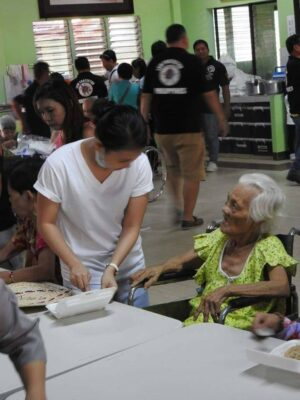 Feeding Program in the Home for the Aged